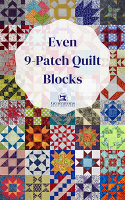 Even 9-Patch Quilt Block Library