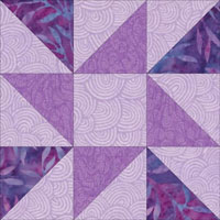 Friendship Star Quilt Block Instructions in 5 sizes : 9 quilt block patterns - Adamdwight.com