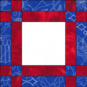 Odds and Ends Frame quilt block design