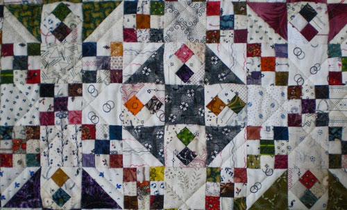 A close-up of Ohmigosh! quilt blocks