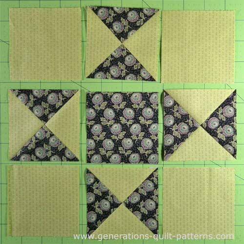 ohio star quilt block illustrated step by step