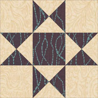 Ohio Star quilt block aka Shoofly