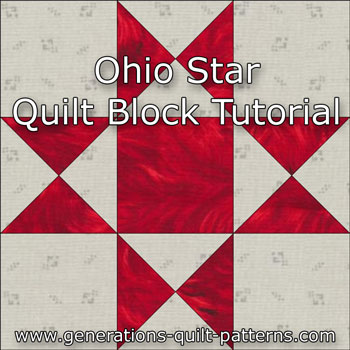 Ohio star quilt block illustrated step by step for Red door design quilts
