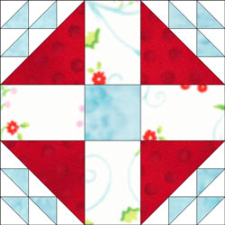 Old Maid's Puzzle quilt block design