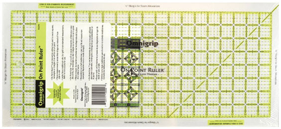 On-Point quilting ruler