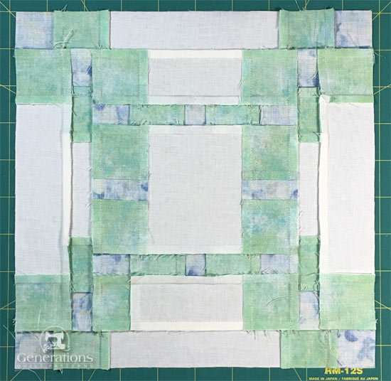 On the Square quilt block