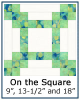 On the Square quilt block tutorial