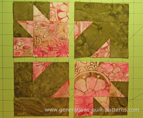 Ozark Maple Leaf Quilt Block Instructions in 3 Sizes