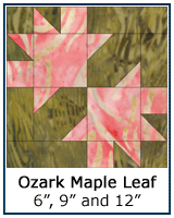 Ozark Maple Leaf quilt block tutorial