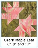 Ozark Maple Leaf quilt block tutorial