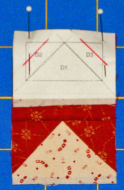 Paper Foundation Piecing - Pin Section A to Section D