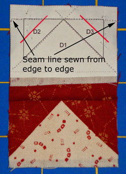 Paper Foundation Piecing - Sew seam edge to edge