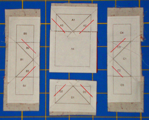 Paper Foundation Piecing - Trim inside seams