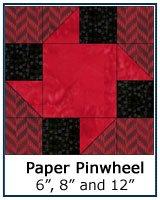 Paper Pinwheel quilt block tutorial