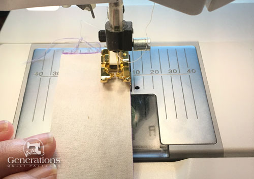 Stitch the first pair of strips together