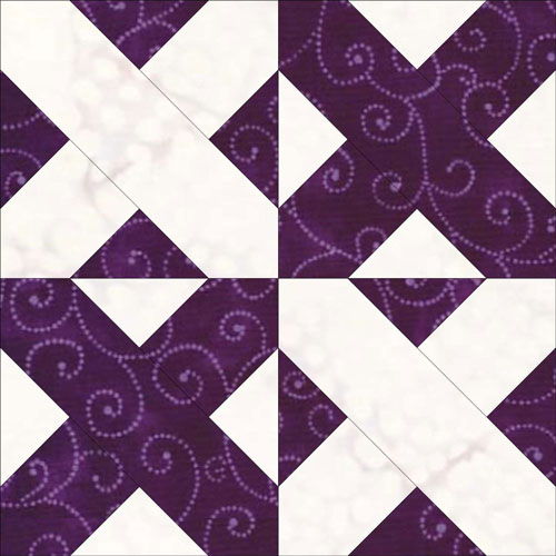 Pennsylvania Crossroads quilt block design