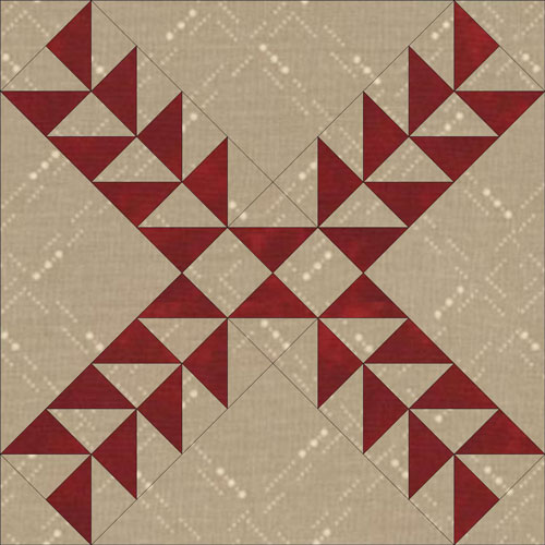 Pennsylvania Pineapple quilt block design