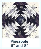 Pineapple quilt block pattern