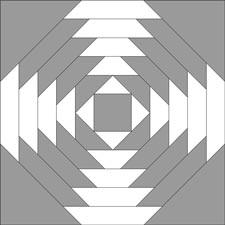 Pineapple quilt block - dark 'X'