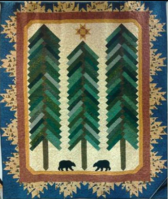 Pinetree Patchworkers' 2017 Raffle Quilt