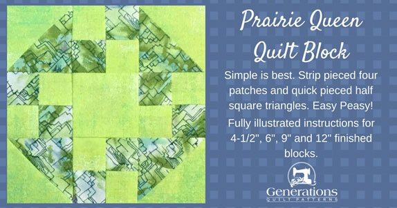 The Prairie Queen quilt block tutorial starts here...