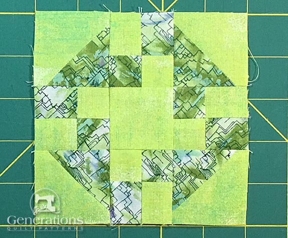 Finished Prairie Queen quilt block