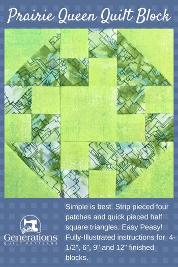 Easy Peasy Prairie Queen Quilt Block: 6, 9