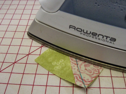 Press flat to set the seam