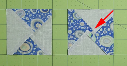 Quilt Patterns Quarter Square Triangles : Easy Quarter Square Triangle Instructions