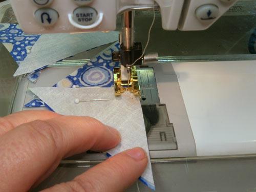Sew second seam