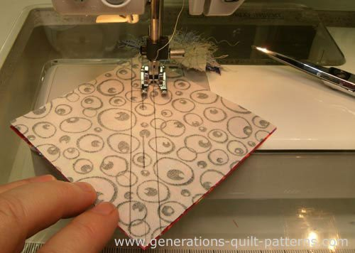 Stitch the half square triangle seams