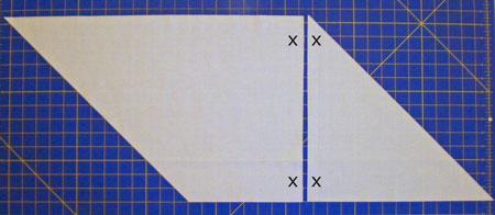 Match short straight grain edges and sew seam