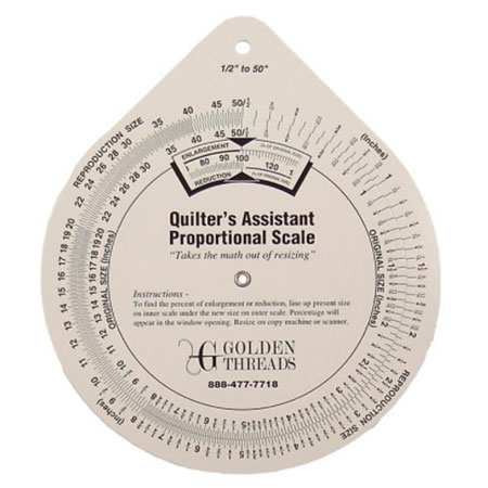 Quilters' proportional scale