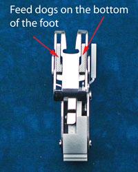 An open toe quilting foot
