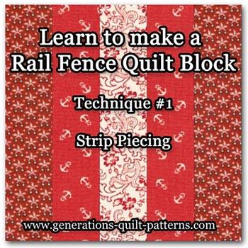 Rail Fence quilt block tutorial