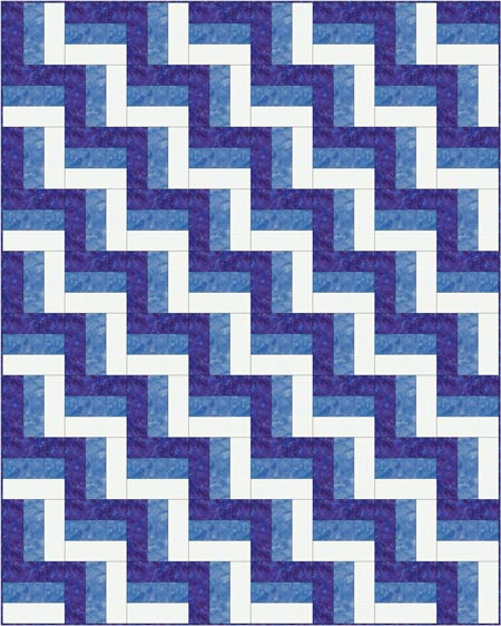 Traditional Rail Fence quilt