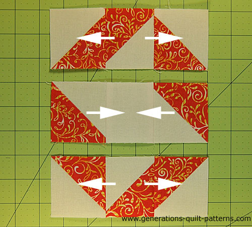 Lay out the rows in order