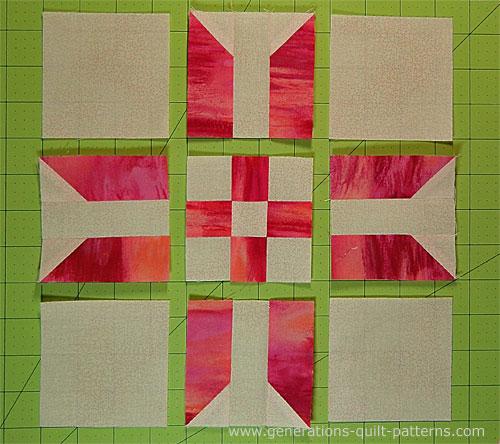 Ribbon Star Quilt Block Pattern: 9