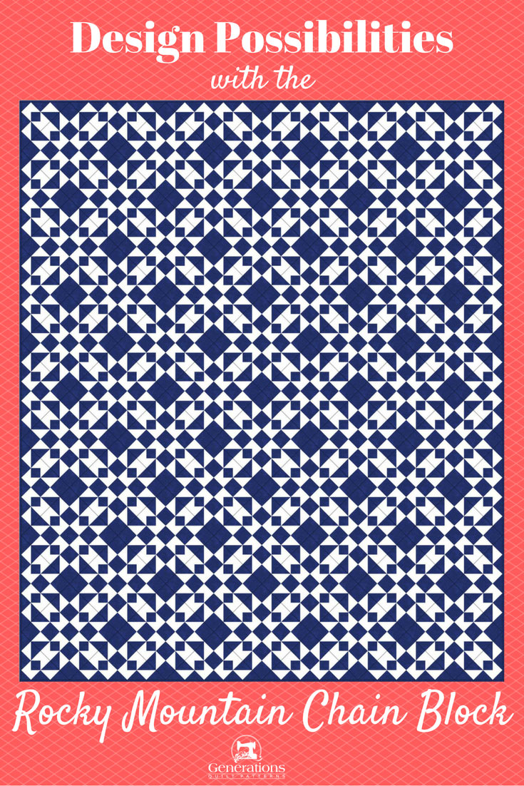 Design ideas for the Rocky Mountain Chain quilt block