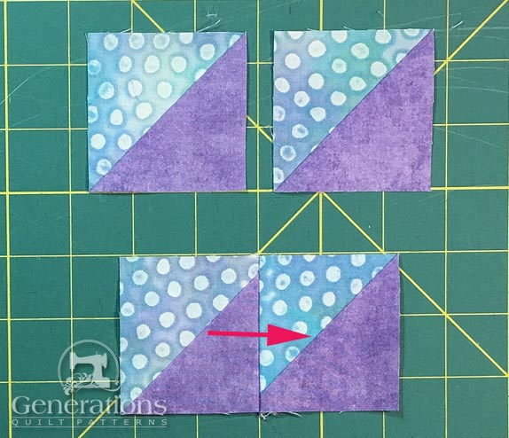 Sew pairs of HST together