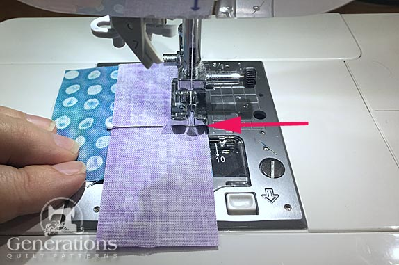 Sew half the seam of the first #4