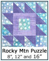 Rocky Mountain Puzzle quilt block tutorial