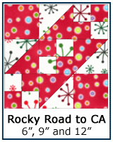 Rocky Road to California quilt block tutorial