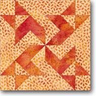 Whirling Pinwheel quilt block