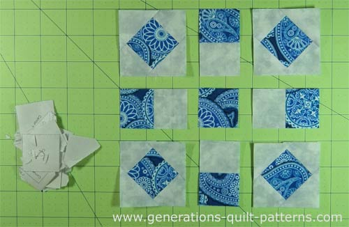 Lay out your patches in rows