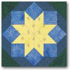 Rolling Star quilt block