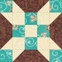 Rolling Star quilt block design