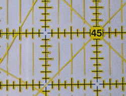 Rotary ruler sight lines