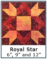 Click here for the Royal Star quilt block tutorial