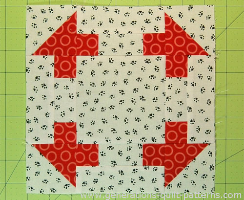 The Ruins of Jericho quilt block is finished